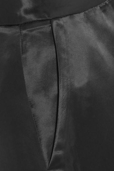 Beaufille Sina zweifarbige Hose mit weitem Bein aus Satin