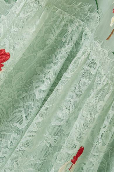 Temperley London Potion besticktes Kleid aus Spitze und Organza