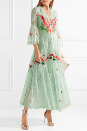 Temperley London Potion embroidered lace and organza dress