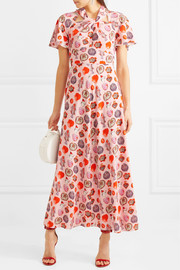 Temperley London Elixir printed crepe maxi dress