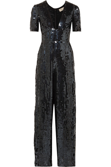 Temperley London Jumpsuit aus Chiffon mit Pailletten