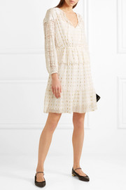 Temperley London Wondering lace-paneled fil coupé georgette dress