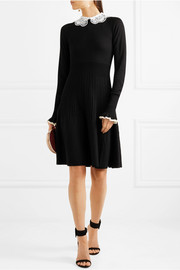 Temperley London Guipure lace-trimmed merino wool dress