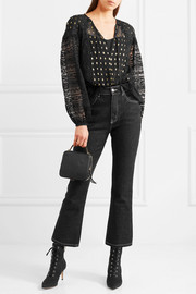 Temperley London Wondering lace-paneled fil coupé georgette blouse