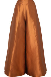 Duchesse-silk wide-leg pants