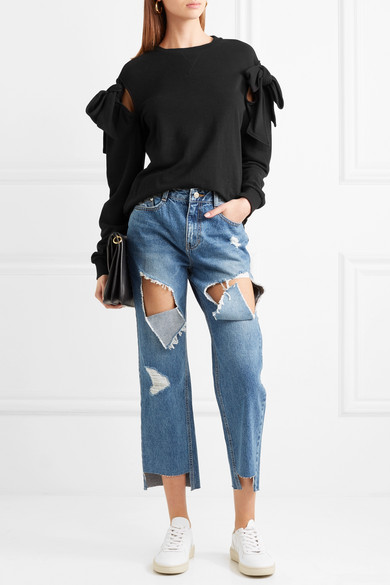 SJYP Sweatshirt aus Baumwoll-Jersey mit Knotendetails