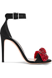Alexander McQueen Embellished satin sandals
