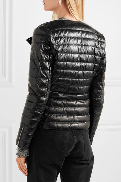 Moncler Daunenjacke Quilted Leather