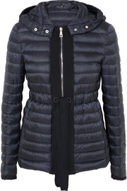Moncler Grosgrain-trimmed quilted shell down jacket