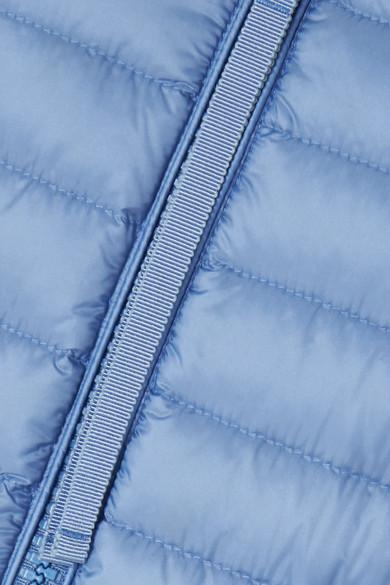 Moncler Jacke aus gestepptem Shell mit Rippstrickbesätzen