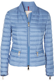 Moncler Ribbed knit-trimmed quilted shell jacket