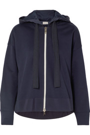 Moncler Cotton-jersey and shell hooded top