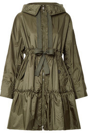 Moncler Hooded ruffled shell jacket