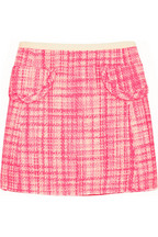 Marc Jacobs Wool-blend tweed mini skirt