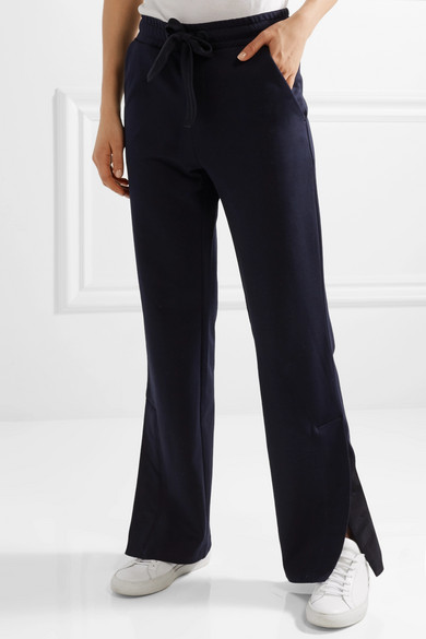 Moncler Hose mit weitem Bein aus Baumwoll-Jersey