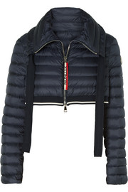 Moncler Cropped quilted shell down jacket