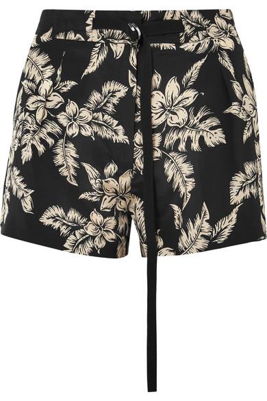 Gutes Angebot Billig Verkauf Extrem Moncler Floral bedruckte Shorts aus Seiden-Georgette Super Spielfrei Versand Verkauf Versorgung VUDJLLqVP