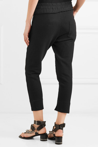 Ann Demeulemeester Shortened Sweatpants In Ribbed Jersey Made Of Stretch Cotton