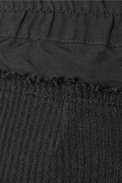 Ann Demeulemeester Verkürzte Jogginghose aus geripptem Jersey aus Stretch-Baumwolle
