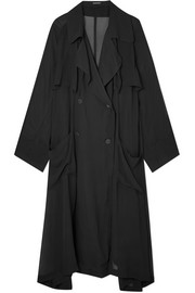 Oversized chiffon trench coat