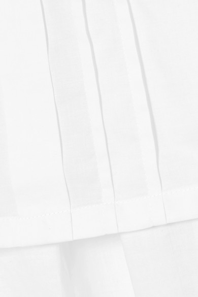 Ann Demeulemeester Mehrlagiges Oberteil aus Baumwollpopeline mit Bändern