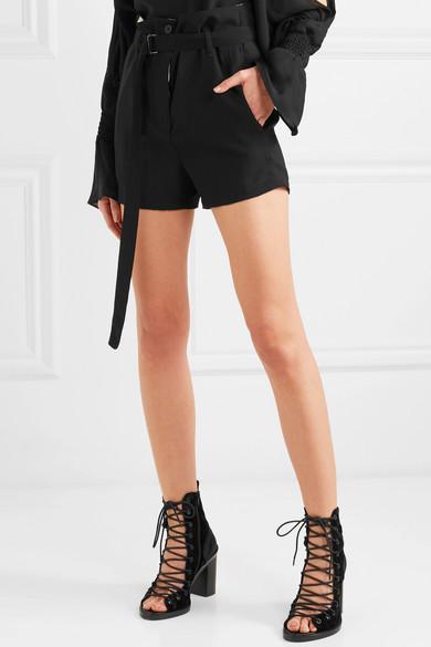 Ann Demeulemeester Shorts aus Wolle mit Gürtel