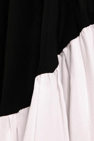 Nett Ann Demeulemeester Asymmetrisches Maxikleid aus zweifarbigem Crêpe Neue Angebote Discount Versandkosten Frei Niedriger Preis Zu Verkaufen RwVgkE