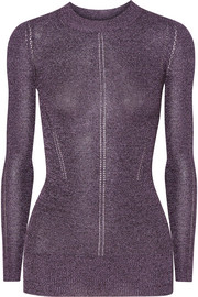 Christopher Kane DNA metallic pointelle-knit top