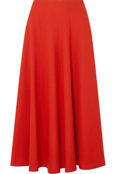 Maison Margiela - Crepe Midi Skirt - Red