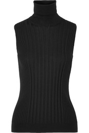 Maison Margiela Ribbed wool turtleneck top