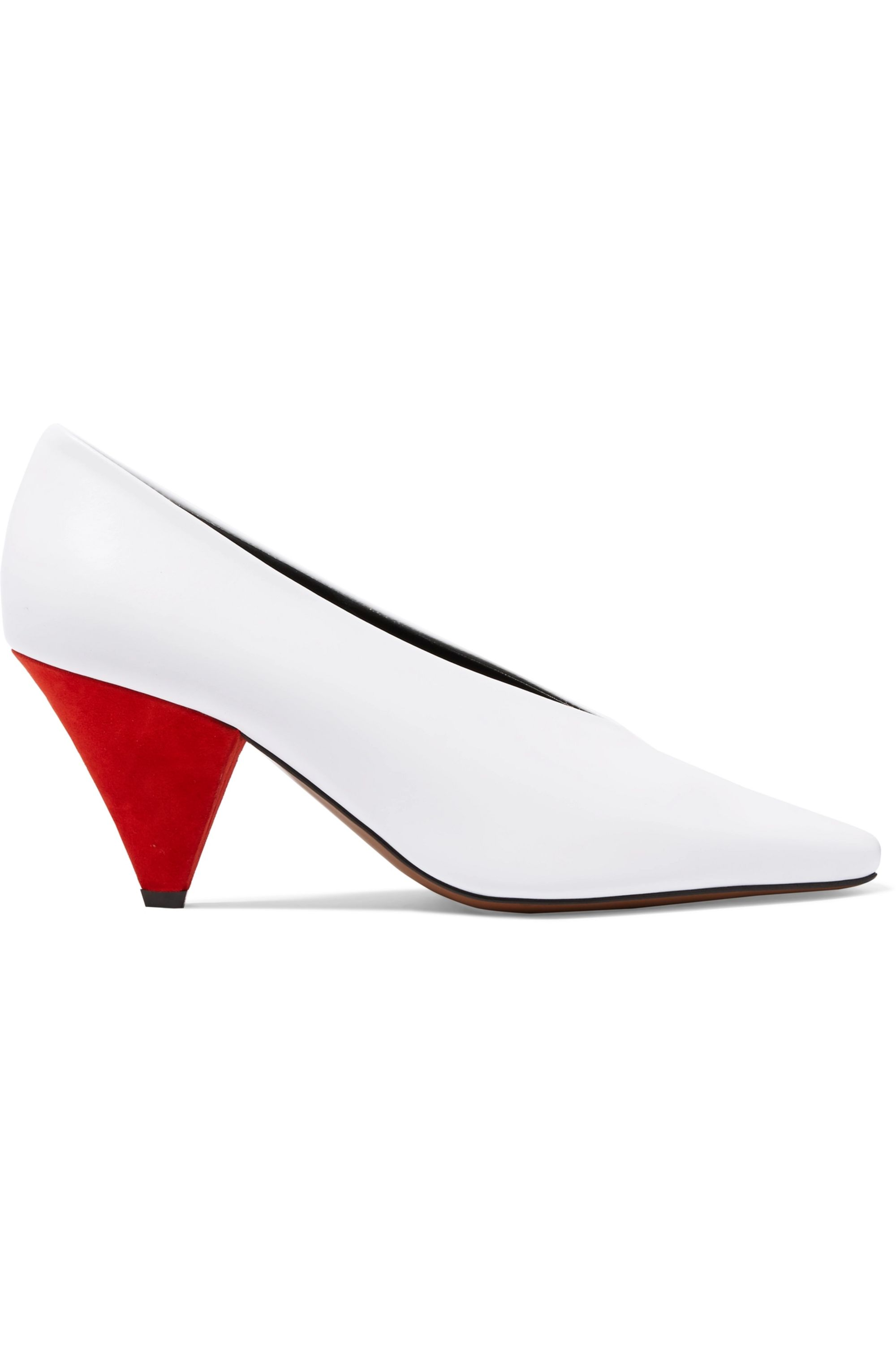 Neous Aunty leather and suede pumps