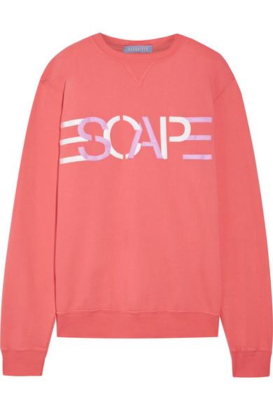 Paradised - Printed Cotton-blend Jersey Sweatshirt - Bubblegum