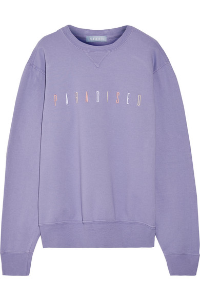 Paradised Paradised besticktes Sweatshirt aus Baumwoll-Jersey