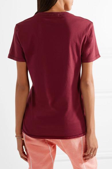 Paradised Lightning bedrucktes T-Shirt aus Baumwoll-Jersey