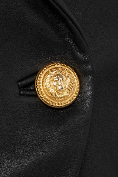 Balmain Doppelreihiger Blazer aus Leder
