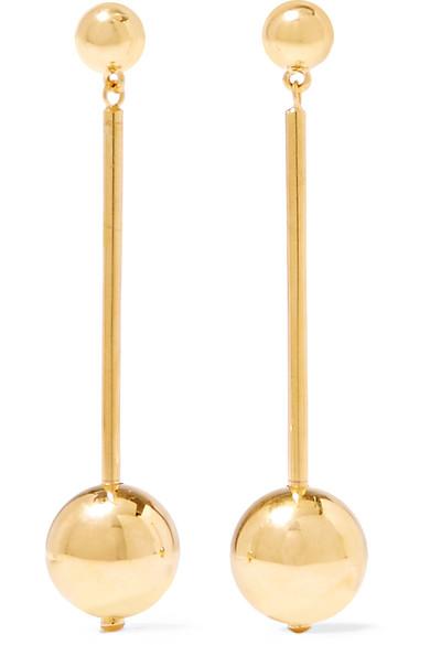 Suzanne Long Vermeil Drop Earrings, Gold