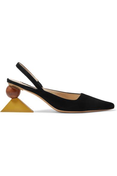Saint Laurent Black 'Les Chaussures Salvador' Heels 3vYxhI