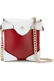 Pristine micro two-tone leather and suede shoulder bag
