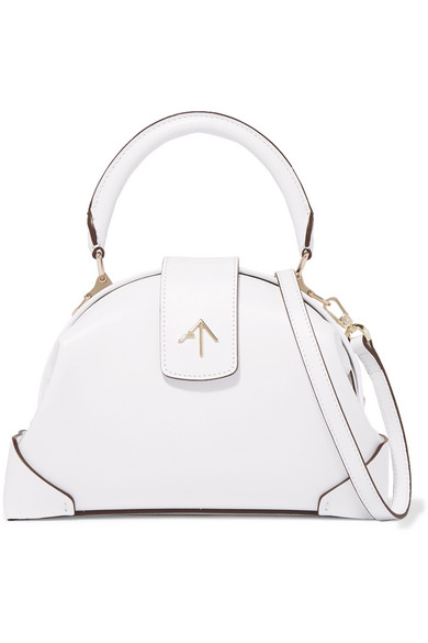 Manu Atelier - Demi Leather Shoulder Bag - White