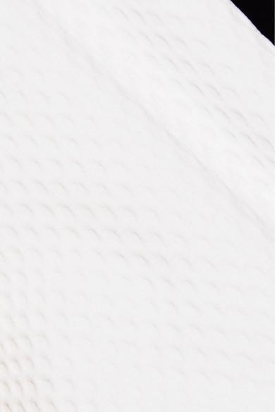 Heidi Klein Anacapri zweifarbiges Bikini-Höschen aus Stretch-Piqué