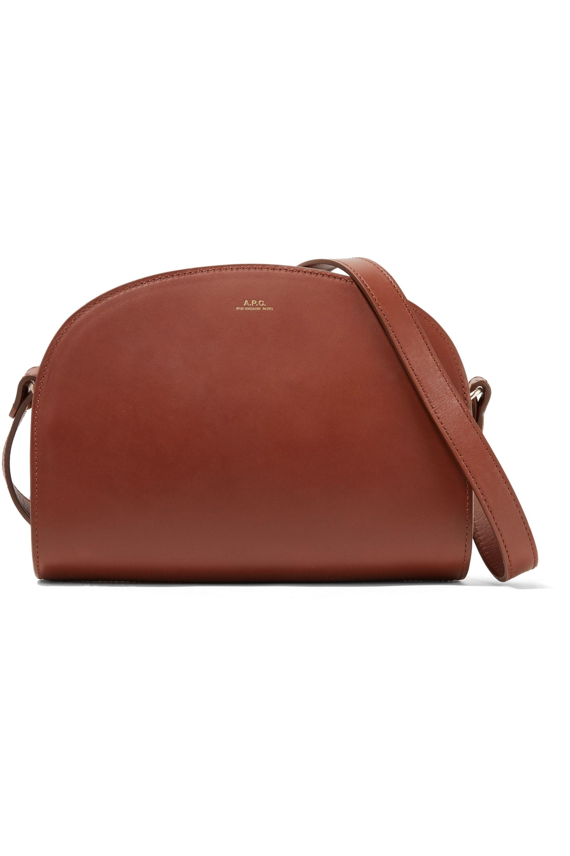 A.P.C. Atelier de Production et de Création Demi-Lune leather shoulder bag