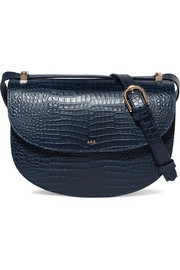Geneve croc-effect leather shoulder bag