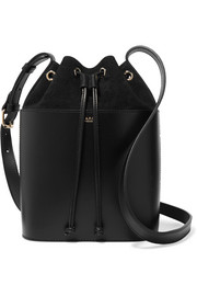 Claire leather and suede bucket bag