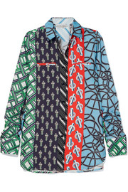 Carven Printed silk-twill shirt