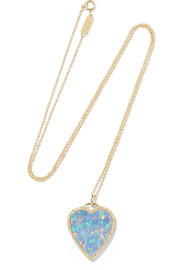 Jennifer Meyer 18-karat gold, opal and diamond necklace