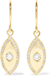 Jennifer Meyer Evil Eye 18-karat gold diamond earrings