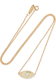 Jennifer Meyer Evil Eye 18-karat gold diamond necklace