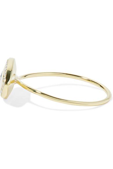 Jennifer Meyer Large Evil Eye 18-karat Gold Diamond Ring GdSkxvl