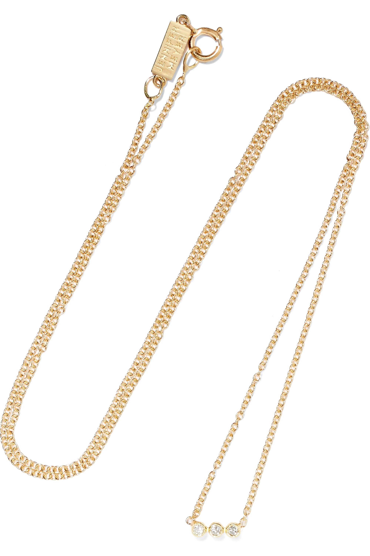 Jennifer Meyer Kette aus 18 Karat Gold mit Diamanten