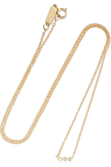 Jennifer Meyer Open Circle 18-karat Gold Diamond Necklace pKNAV6lCB1